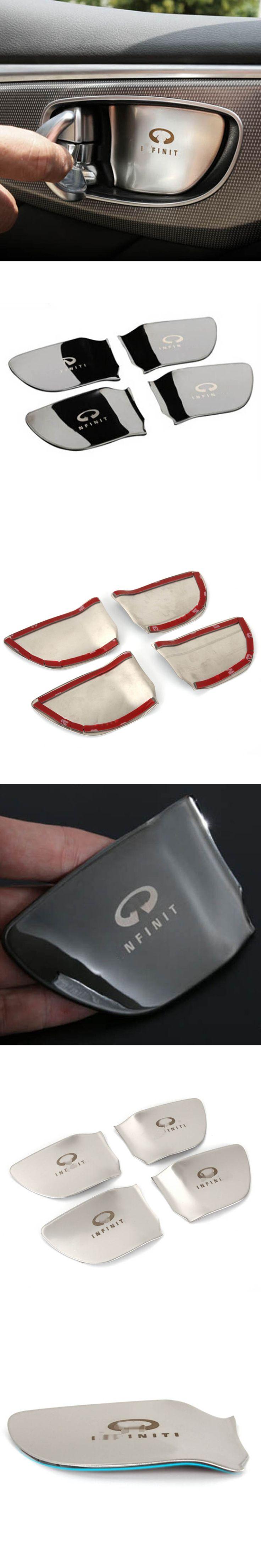 Inner door handle knob bar wrist bowl protective cover sticker trim for infiniti Q50 QX60 Q70 interior accessories