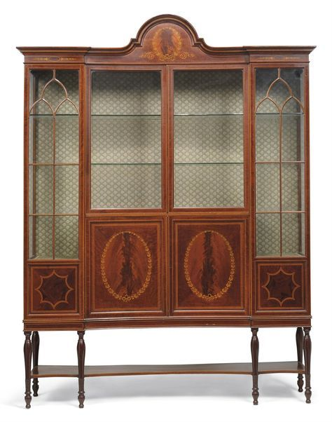AN EDWARDIAN MAHOGANY AND MARQUETRY DISPLAY CABINET - BY MAPLES & CO.,  EARLY 20TH · Cabinet FurnitureAntique ... - 40 Best Edwardian Furniture Images On Pinterest Cabinets