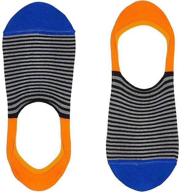 Paul Smith Men's Striped Cotton-Blend No-Show Socks