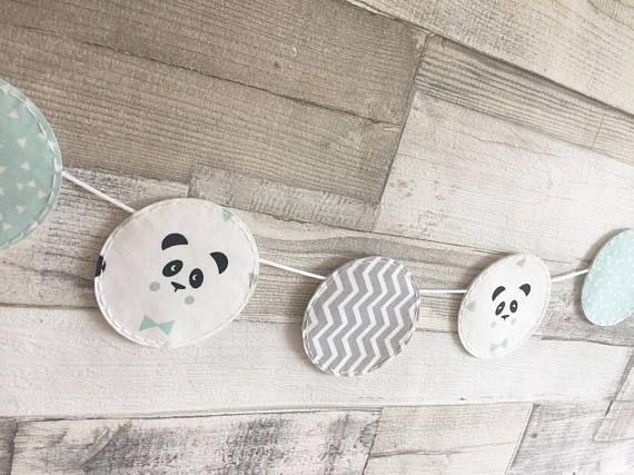 Panda del empavesado menta y Empavesado gris Panda vivero