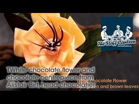White chocolate flower and chocolate centrepiece from Alistair Birt, head chocolatier - YouTube