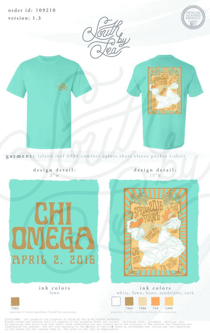 T shirt design quad cities - Chi Omega Chi O Vintage T Shirt Design Groovy T Shirt