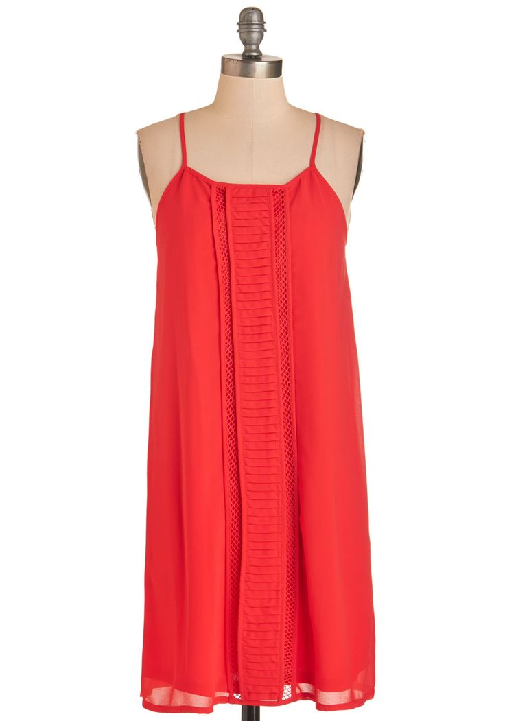 Bestie Reunion Dress in Red. Enjoy a night out with your BFF clad in this bright red shift dress! #red #modcloth