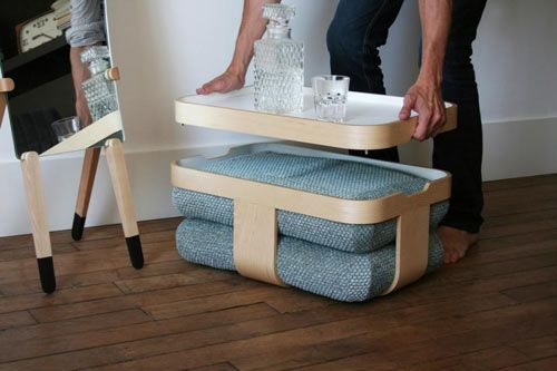 Mister T is not just one thing. It carries many functions with its basket, tray, and two cushions – a table, a tray, a seat, and a footrest all rolled into one.
