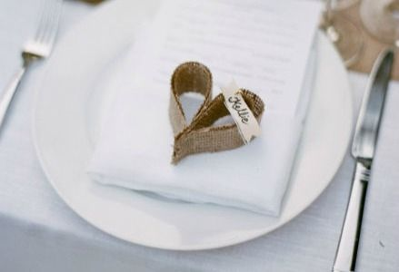 All Burlap Crafts love this simple place card