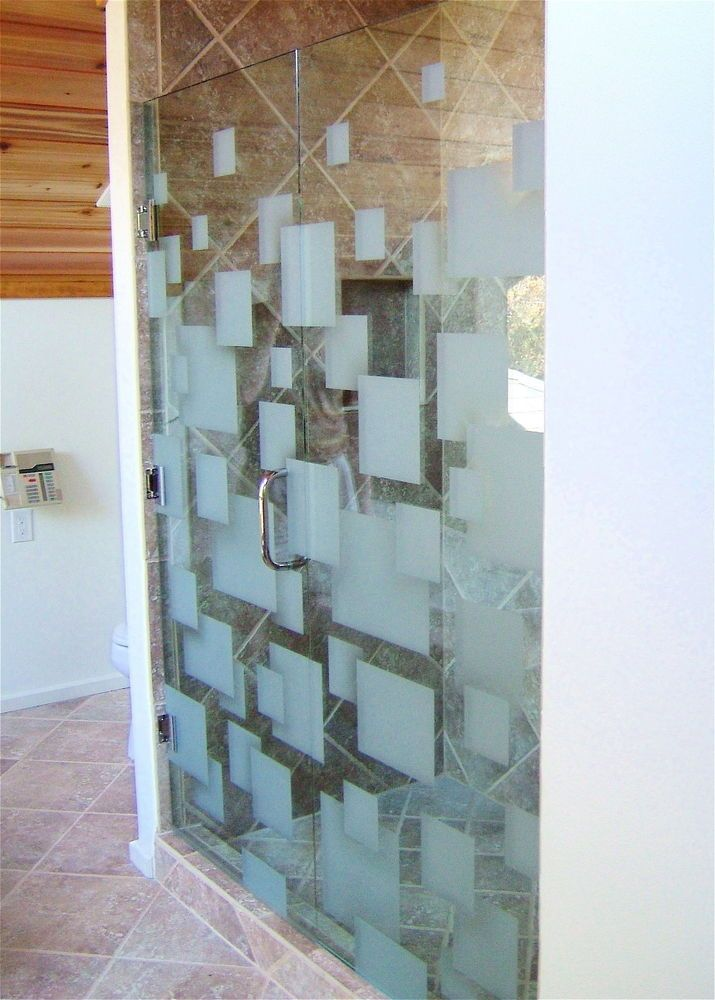 98 best glass shower doors images on pinterest glass - Bathroom doors with frosted glass ...