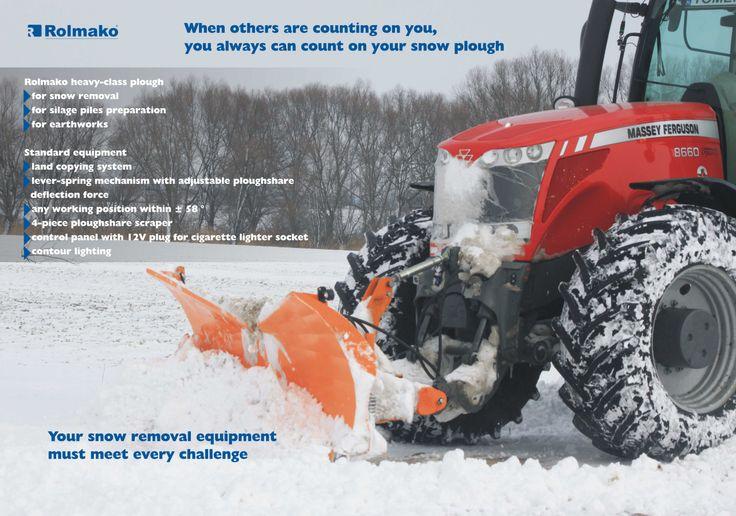 Pług śnieżny Snow-plough  Cнегоочистительный плуг Schneepflug Rolmako www.rolmako.pl www.rolmako.com www.rolmako.de www.rolmako.fr www.rolmako.ru