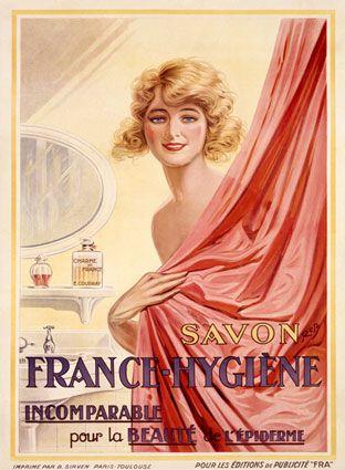 Savon - Soap - Zeep - French Vintage Poster