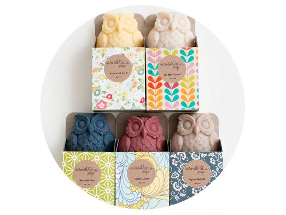 Five Pretty Owls  Natural Handmade Cold por seventhtreesoaps, $48.00