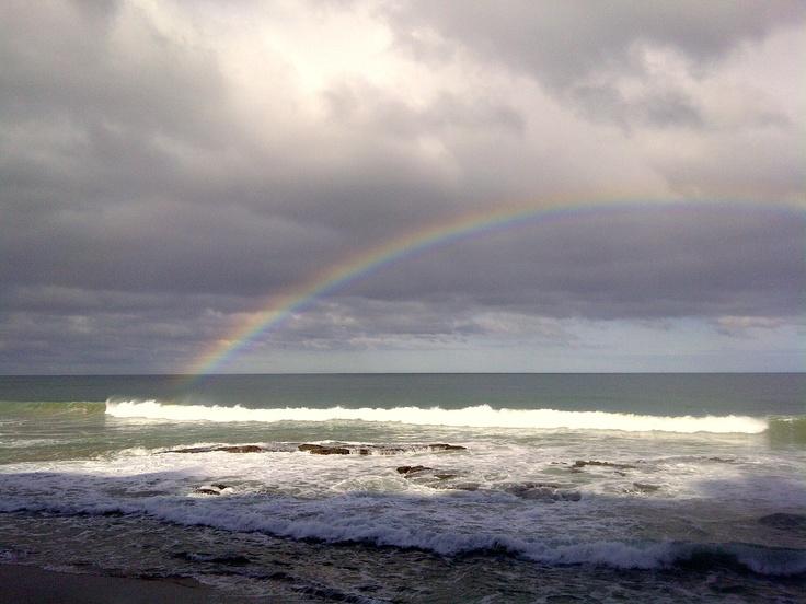 Perfect rainbow caught - Great Ocean Road, Australia