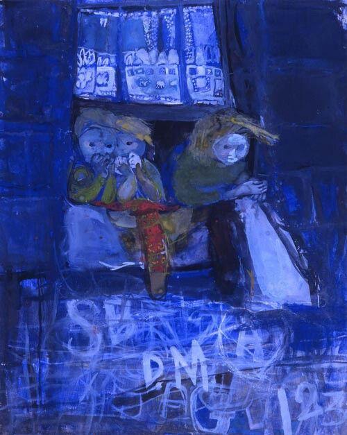 The street at night - Joan Eardley