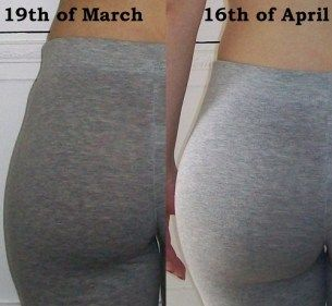 Best Butt Exercises. This has gotten pretty popular, so I should point out that the girl in these pics started out with a low body fat percentage and that's probably a big reason she saw results so fast.