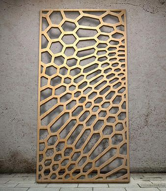 Geometric   Miles and Lincoln   Laser cut screens   Laser cut panels