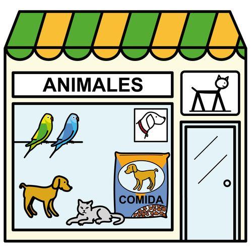 Pictogramas ARASAAC - Tienda de animales.