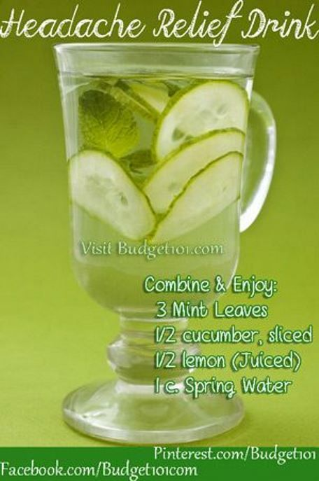 Homemade #Headache Relief Drink