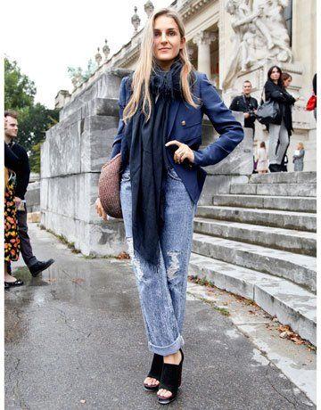 Gaia Repossi streetook at the Paris Fashion week