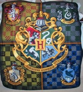 fleece throw hogwarts and crests on pinterest. Black Bedroom Furniture Sets. Home Design Ideas
