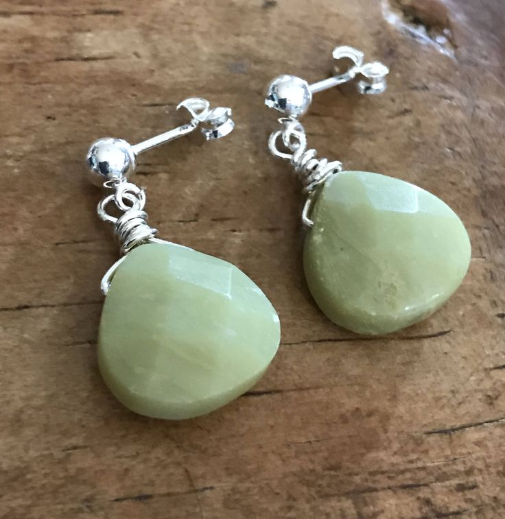 A personal favorite from my Etsy shop https://www.etsy.com/listing/549904782/green-earrings-faceted-olive-jade