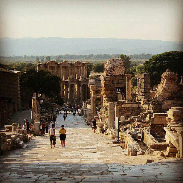 İzmir, Turkey. It was so neat to walk among the ruins of Ephesus. and not just look at them