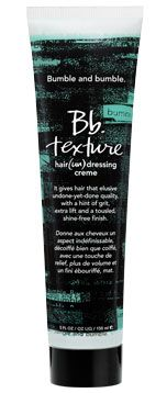 """Bumble and Bumble Texture creme. Going to give it a go with Surf Spray to make the ultimate """"I never comb my hair messy touseled pretty rats nest"""" look."""
