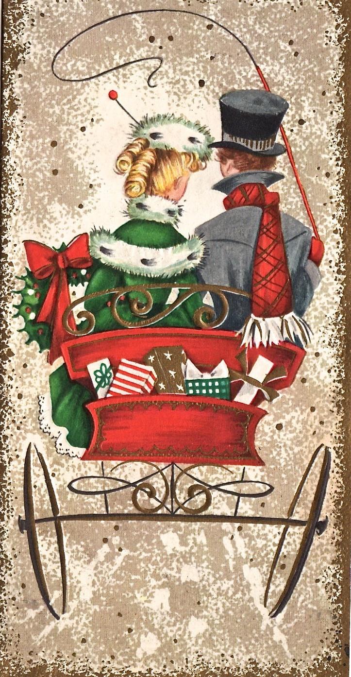Carriage ride home. #vintage #christmas #vintagechristmas