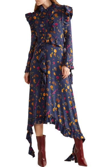 Vetements - Floral-print Stretch-jersey Midi Dress - SALE20 at Checkout for an extra 20% off