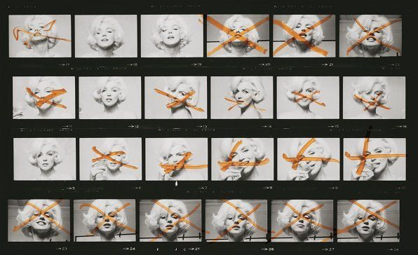 """Marilyn Contact Sheet,"" 1962  Image courtesy of Taschen, copyright Bert Stern"