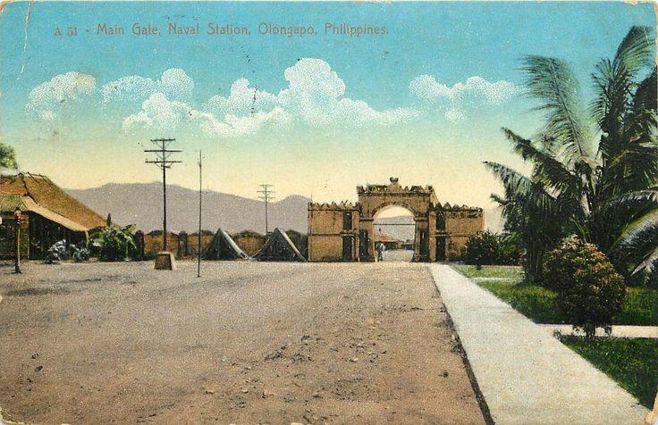 https://flic.kr/p/xJMyuC | Main Gate, Naval Station, Olongapo, Philippines. 1915
