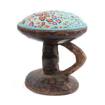 Ardmore Ceramics Batonka Stools: Batonka Stool in Leopard Lights