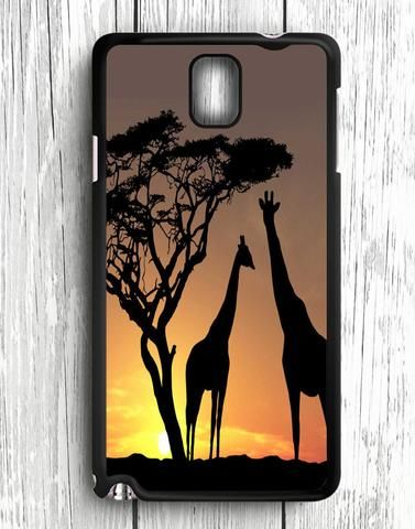 Wild Life Girrafe At The Sunset Samsung Galaxy Note 3 Case