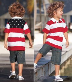stars & stripes polo - this polo will have your son looking awesome on the 4th and throughout the summer.