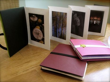 Great video on making an accordion photo album that requires no gluing...just the photos themselves are glued in. Just go to their site to view the podcast.