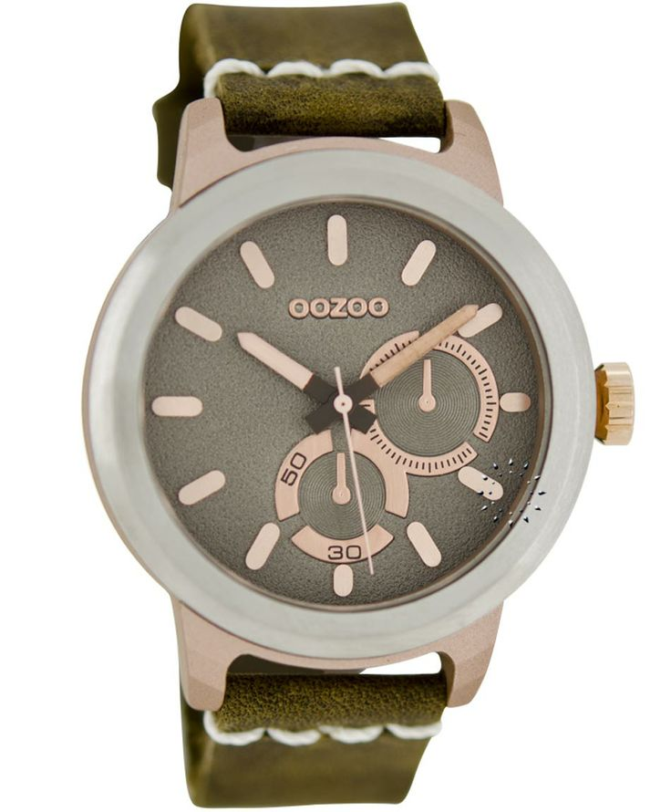 OOZOO Τimepieces Brown Leather Strap Μοντέλο: C6208 Η τιμή μας: 69€ http://www.oroloi.gr/product_info.php?products_id=35997