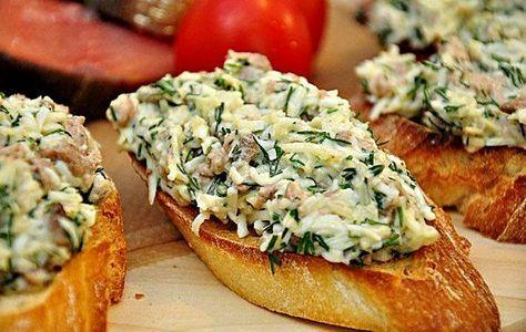 Закусочные бутерброды с печенью трески   Школа шеф-повара