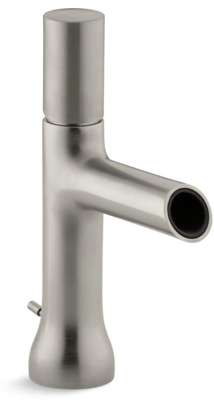 Kohler K-8959-7 Toobi Single Hole Bathroom Faucet with Metal Pop-Up Drain Assemb Vibrant Brushed Nickel Faucet Lavatory Single Handle