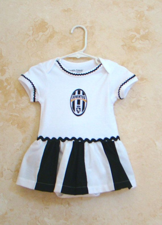 Replica of the Juventus Soccer Onesies by My2ShaySportsApparel