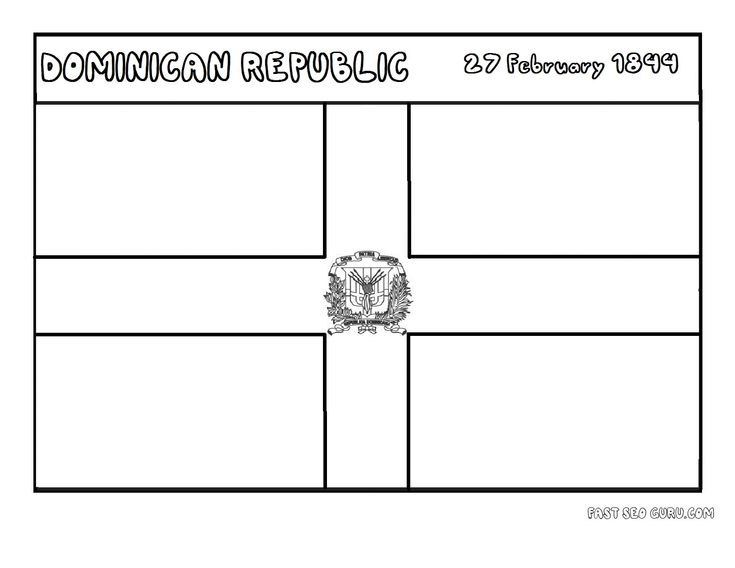 dominican republic coloring pages dominican republic flag coloring page google search