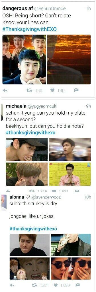 #thanksgivingwithexo<<the first one almost killed me