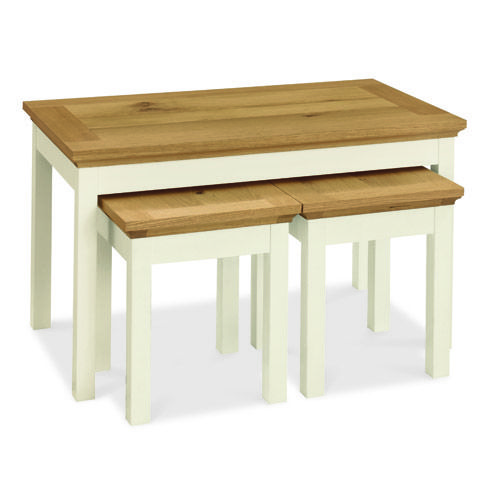 Rustic Two Tone Nest of Coffee Tables - £149 | brandinteriors.co.uk