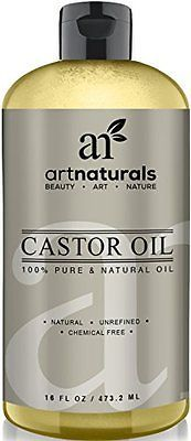 Art Naturals 100% Pure Castor Oil 16 oz - Best Massage Oil & Moisturizer for Hai