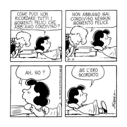 Peanuts, Lucy e Schroeder
