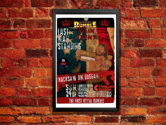 Royal Rumble 88 Hacksaw Jim Duggan Vintage by ZanzibarLand on Etsy