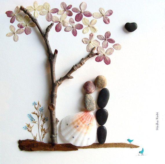 Art For Wedding Gift : WEDDING Gift-Customized Wedding Gift-Pebble Art-Unique Engagement Gift ...