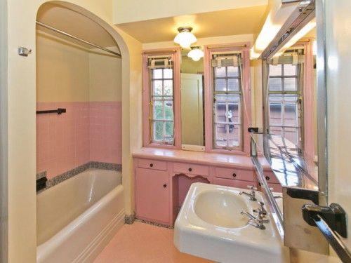 '40s Style Pink Bathroom - I miss my pink bathroom