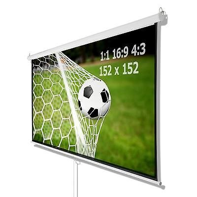 "Beamer Leinwand Rollo Heimkino Leinwand 152 x 152 cm 85"" selbstaufrollend in TV, Video & Audio, DVD, Blu-ray & Heimkino, Beamer-Leinwände 