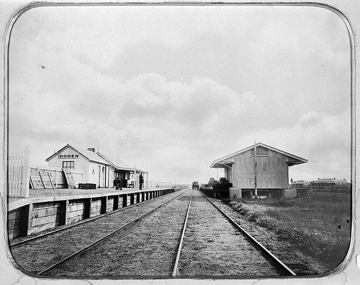 Dooen Railway Station in 1885