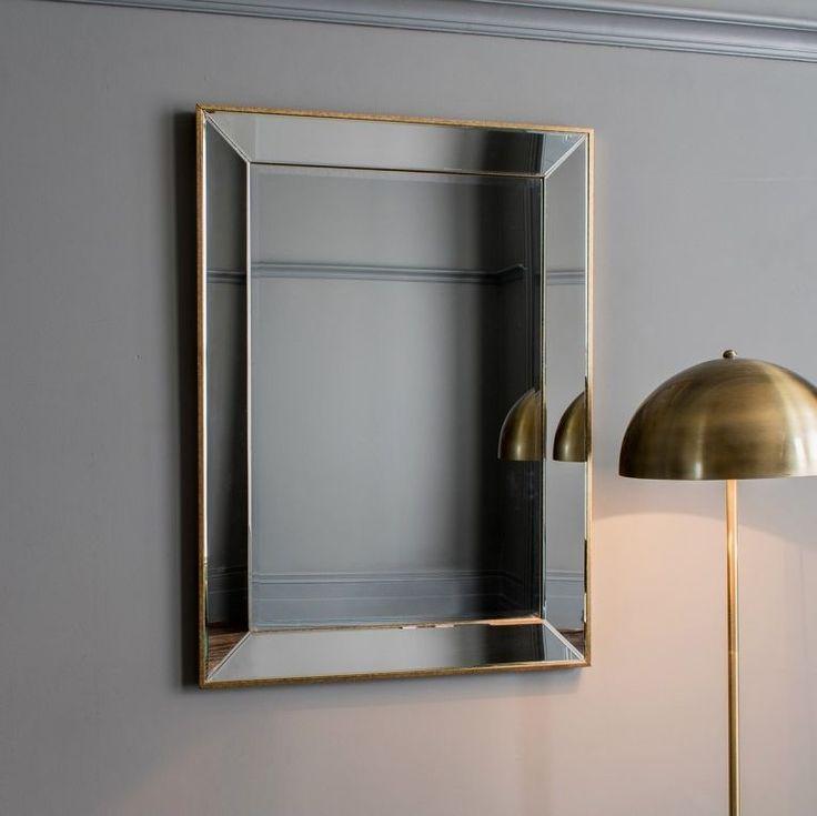 Gallery Direct Banks Mirror - H 81cm #Mirror #AssembledMirror  Dimensions:W 111.5cm x D 3.5cm x H 81cm Type:Hanging Assembly:Assembled Shape:Rectangular