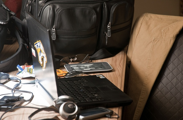 Typical hotel work setup on the road