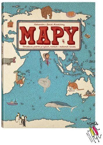 """Mapy. Obrazkowa podróż po lądach, morzach i kulturach świata - Mapy"""" zabiorą Was w niecodzienną podróż dookoła świata. Przewracając kolejne karty książki przemierzycie wszystkie sześć kontynentów, odwiedzicie czterdzieści dwa kraje, a przede wszystkim dowiecie się, jak w Indiach ćwiczy się Jogę, jak smakują stuletnie jaja z Chin i czym jest noc polarna. Nie zapomnijcie wpaść na partię krykieta w Anglii!"""