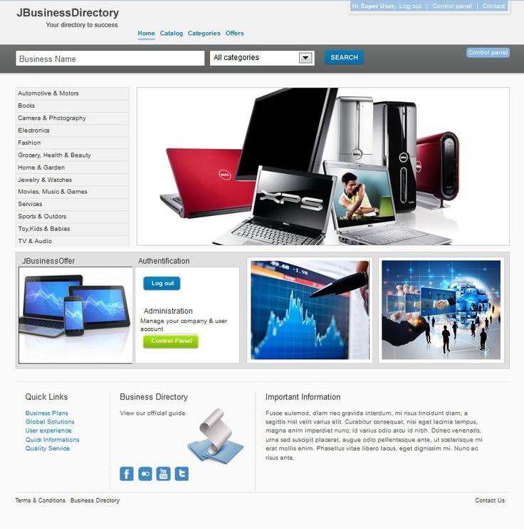 J-BusinessDirectory Template